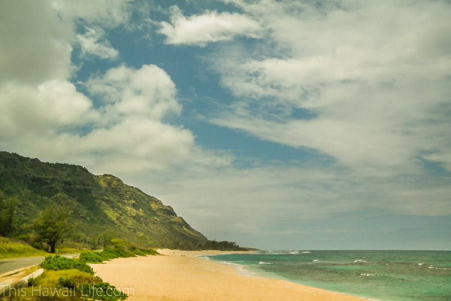 Mukuleia Beach Park in the north shore
