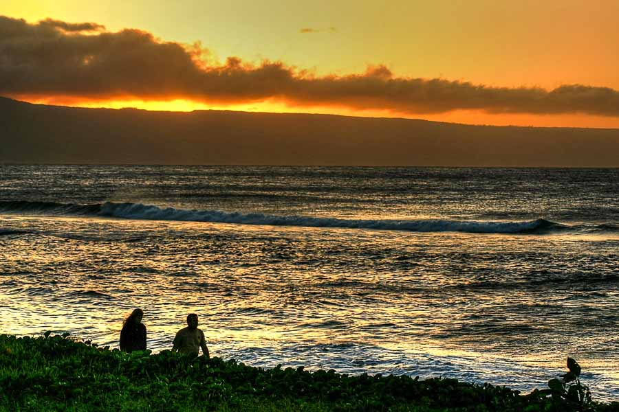 Enjoying a maui sunset