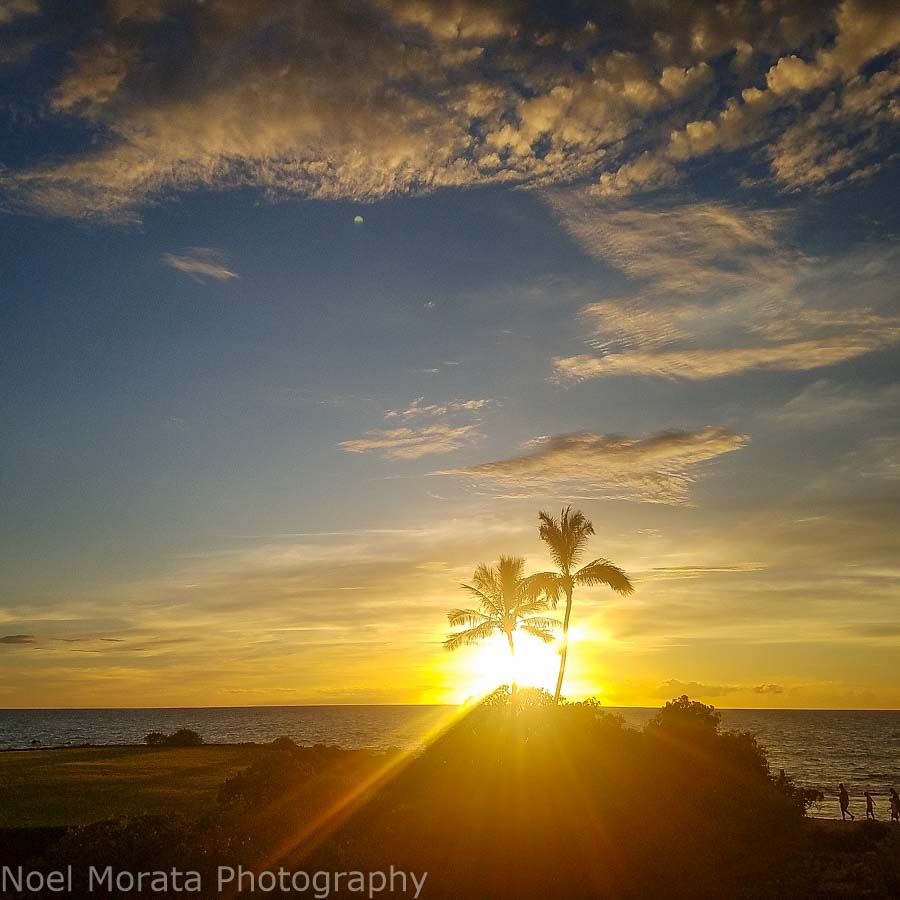 Hapuna beach for sunset