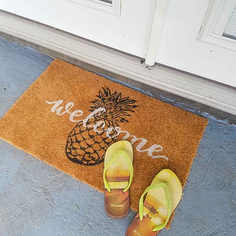 Take your shoes off before you go inside the house