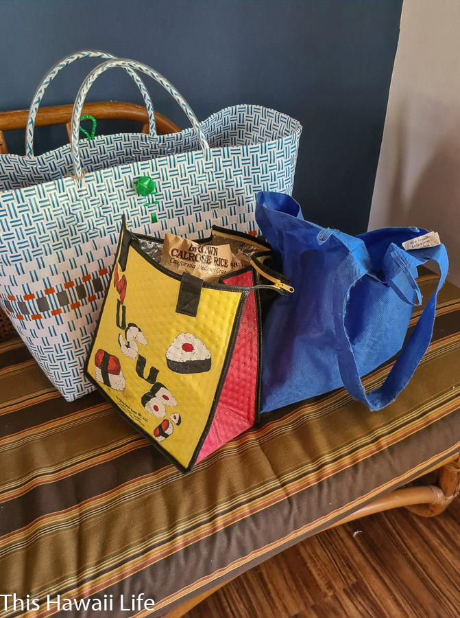 Use your own bags an Eco friendly use purchasing food and other products
