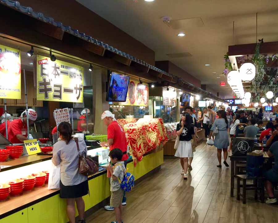 Japanese food experience at Shirokiya's Japan Village Walk at Ala Moana