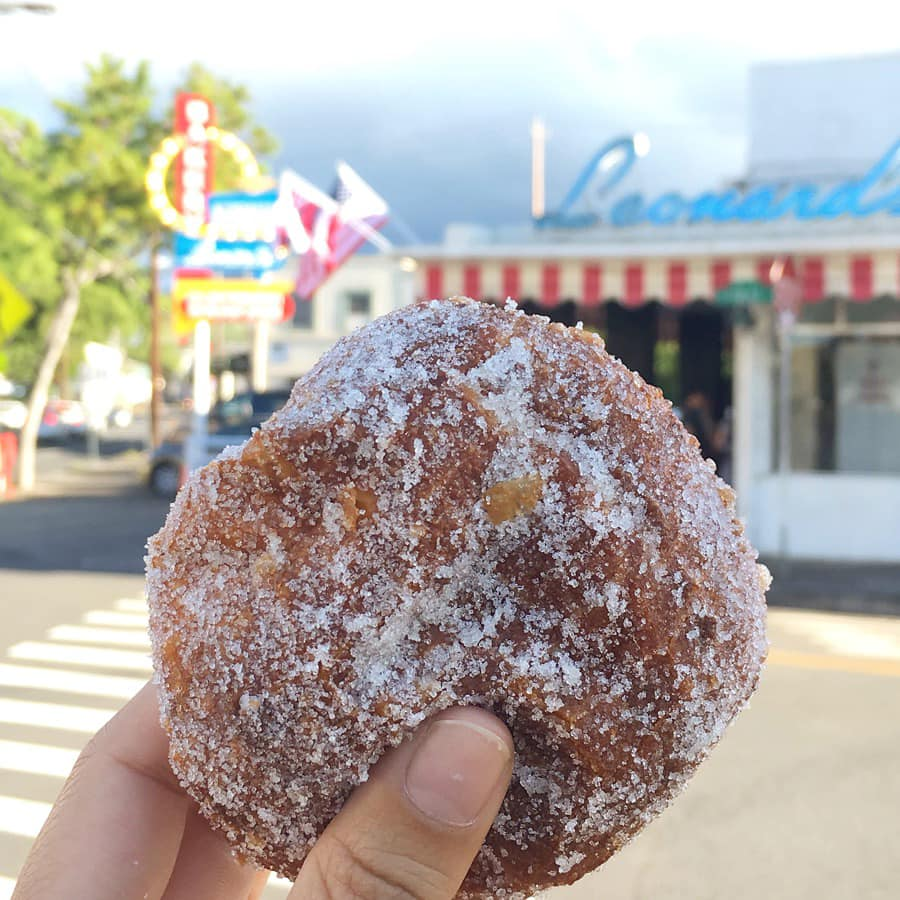 visiting Leonards-bakery in Waikik