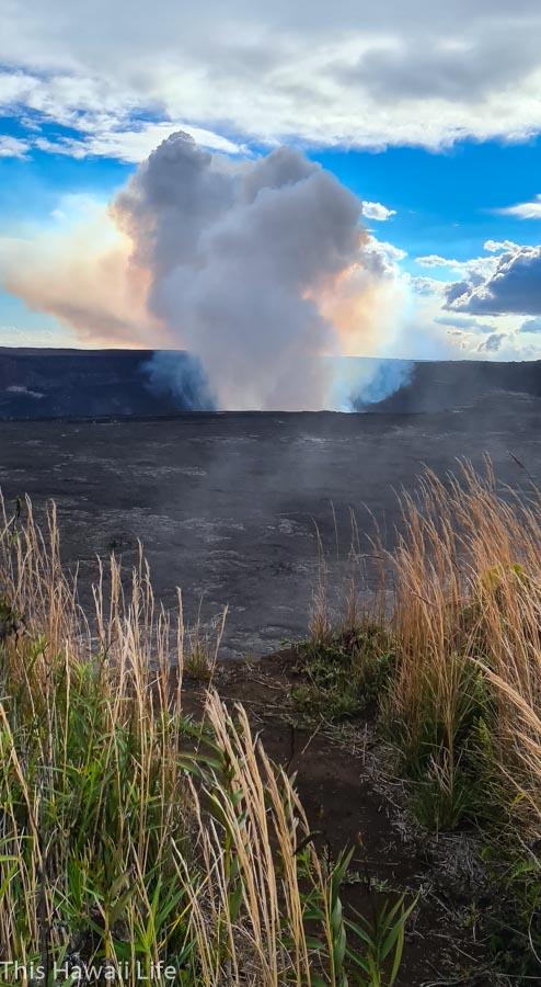 Eruption at Volcanoes National Park
