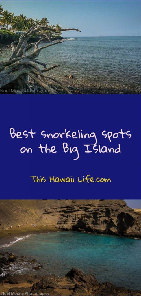 Best snorkel spots on the BIg Island pinterest