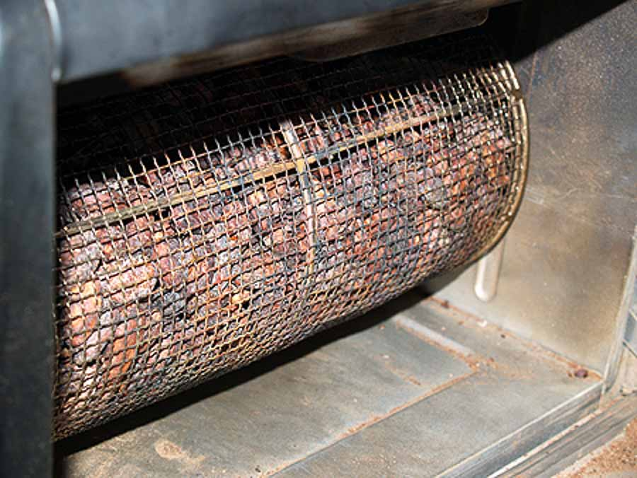 cacao roasting process in Hawaii Island