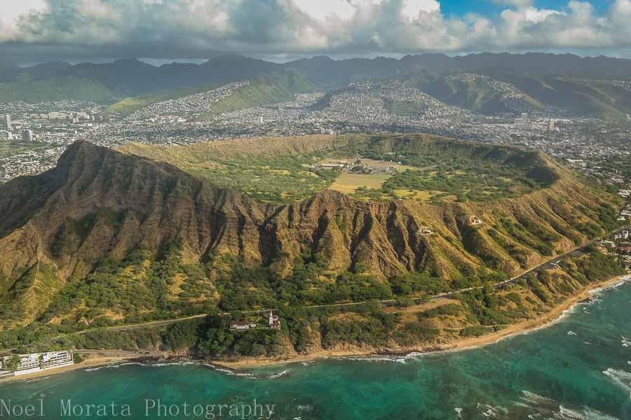 Climbing up Diamond Head in Oahu