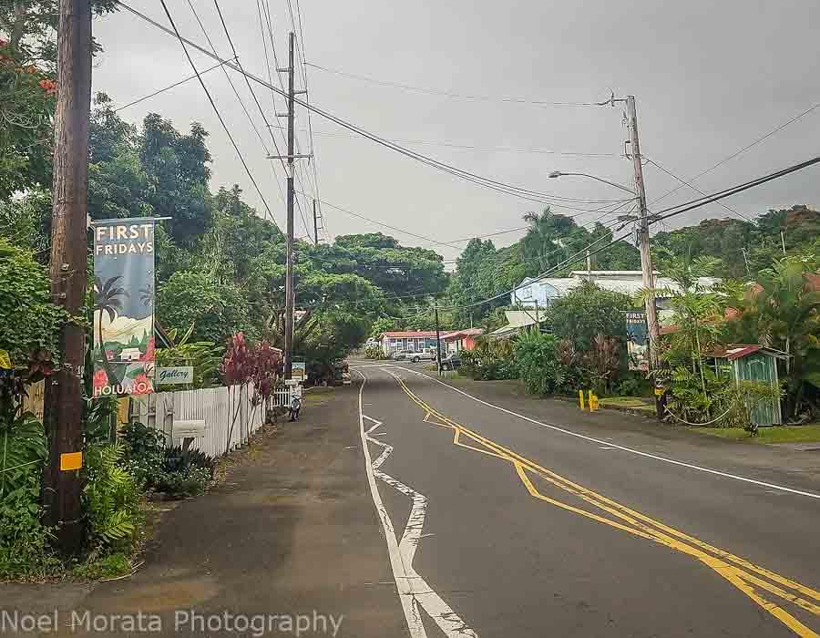 Visiting the art village at Holualoa