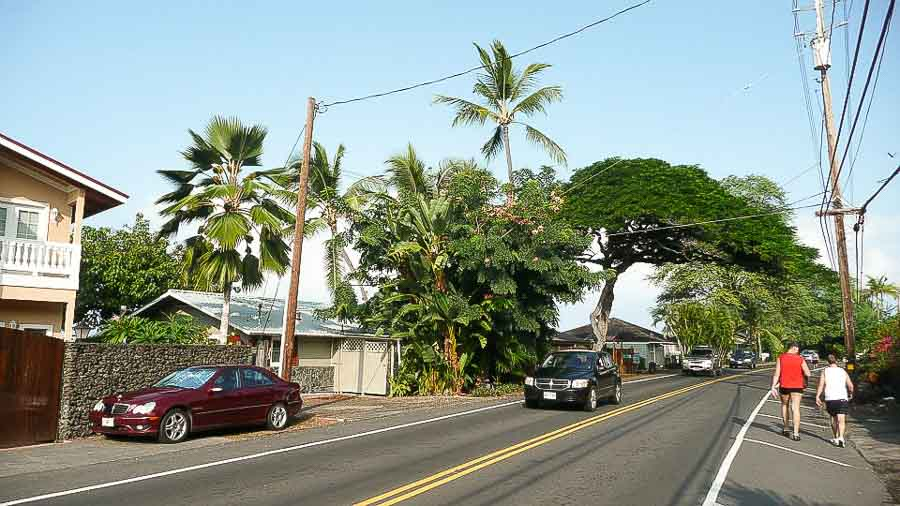 Jogging on Ali'i drive in Kona