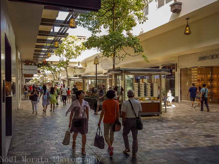 Visiting Ala Moana center in Honolulu