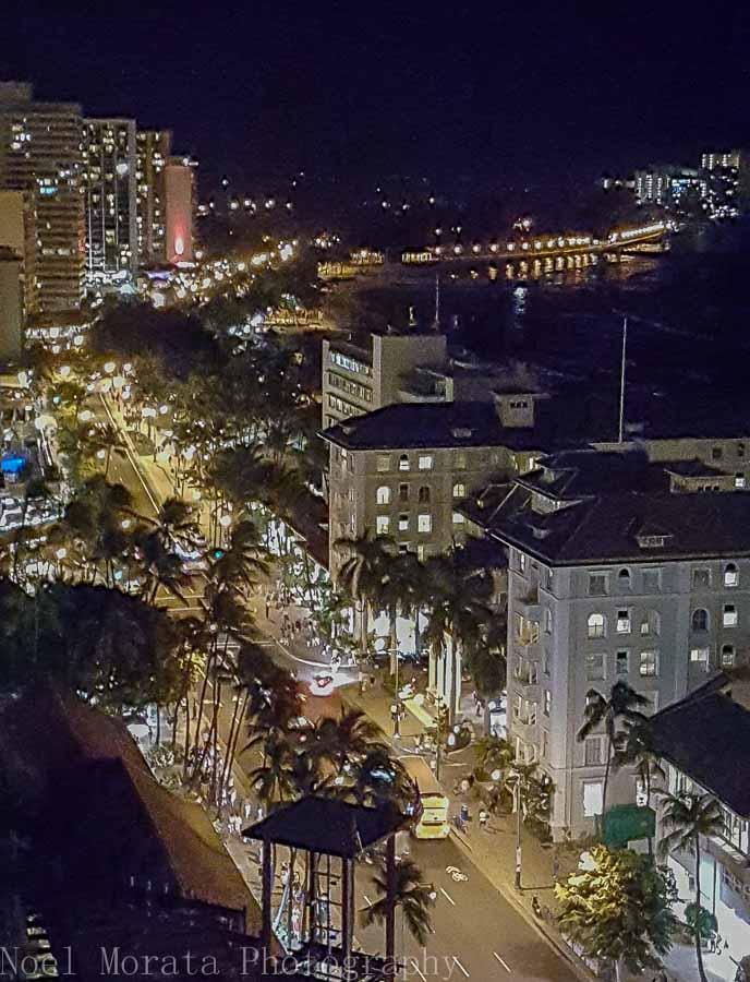 Walking down Kalakaua Blvd in Waikiki