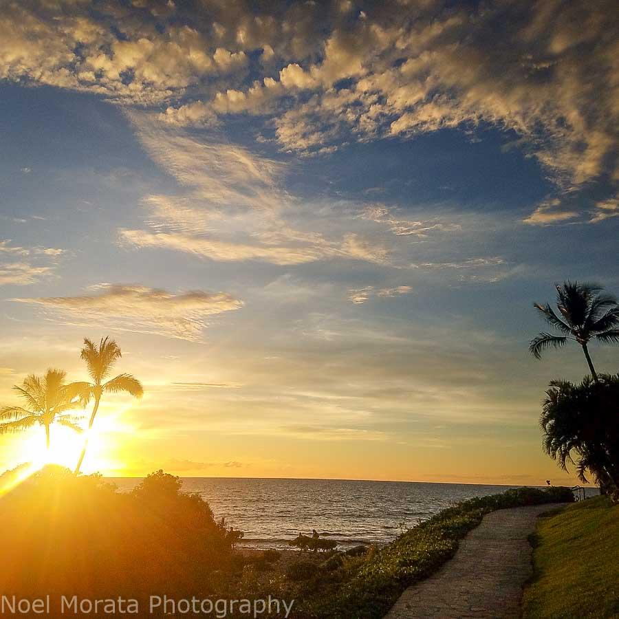 Enjoying sunset in west Hawaii Big Island