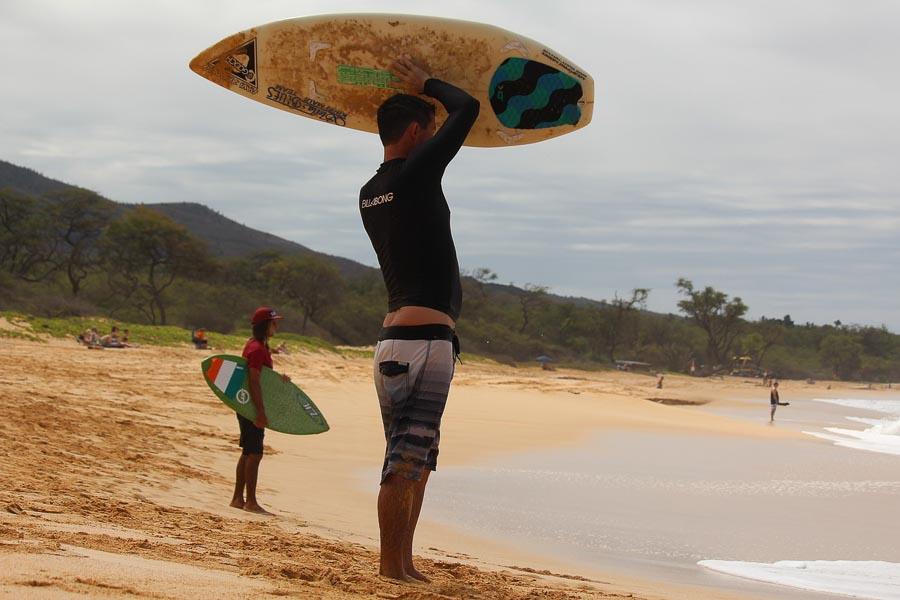 skim boarding maui