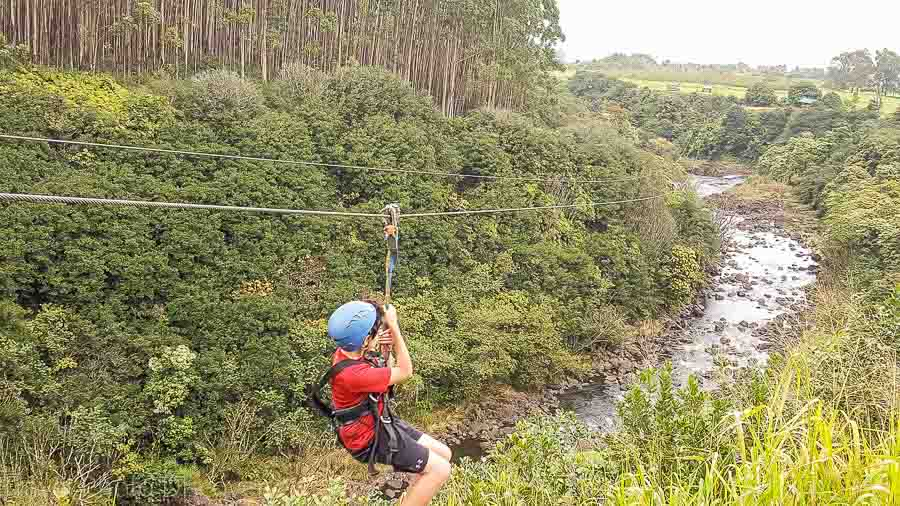 zipline experience on the Big Island