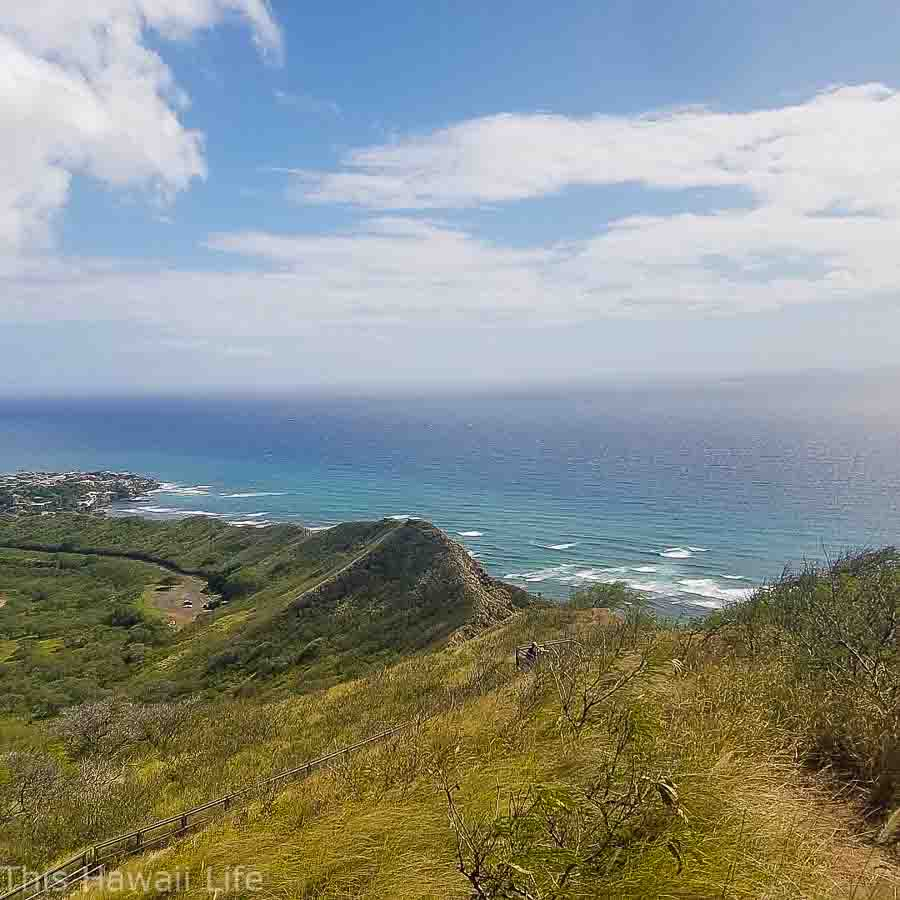 Back side views from DIamond Head Crater