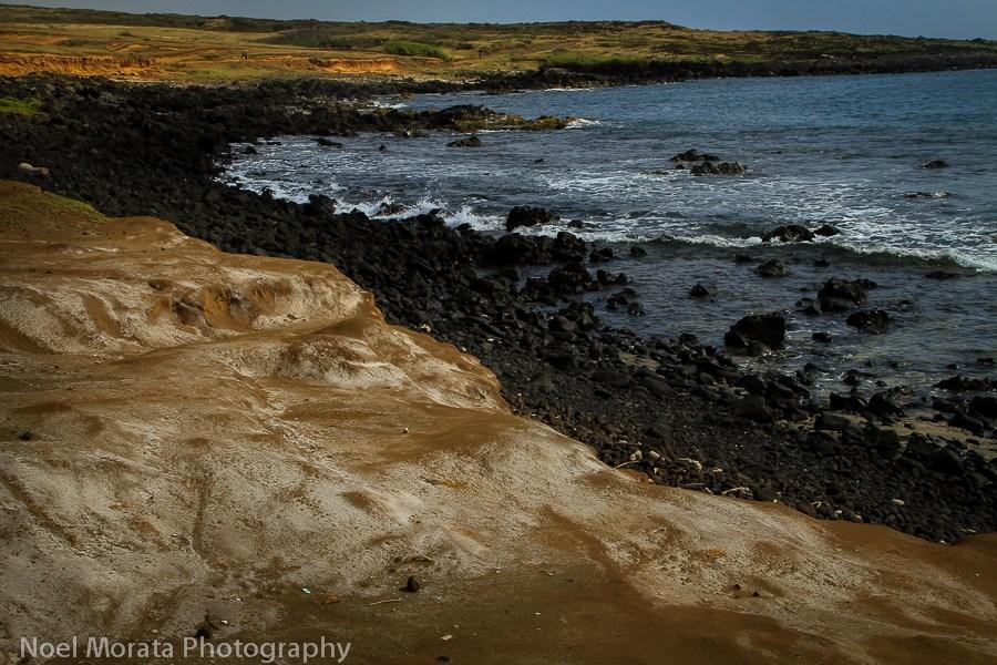 Coastal hike to the green sand beach big island