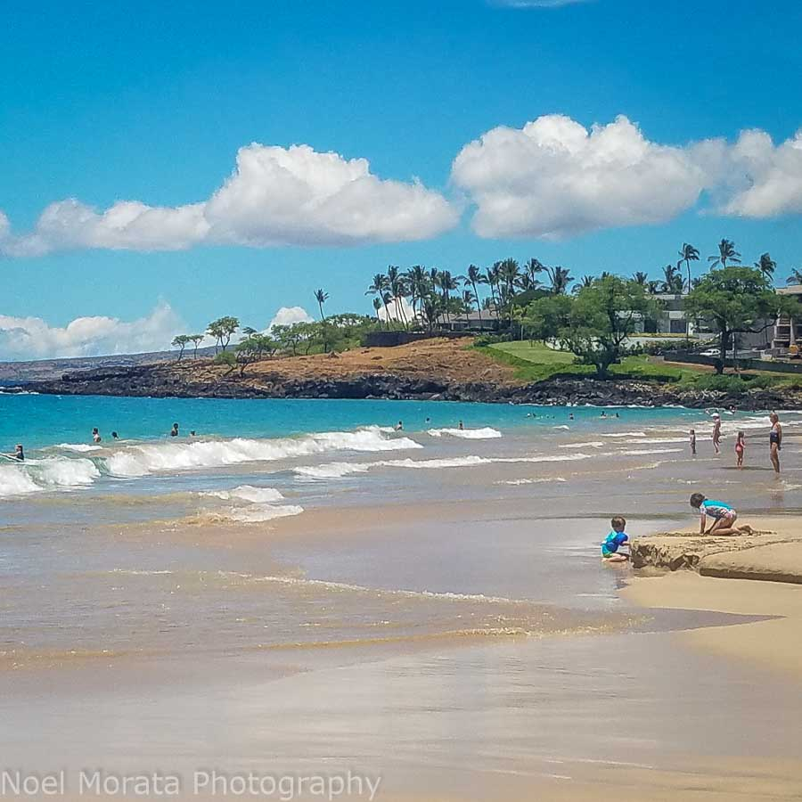 Family beach day on the Big Island