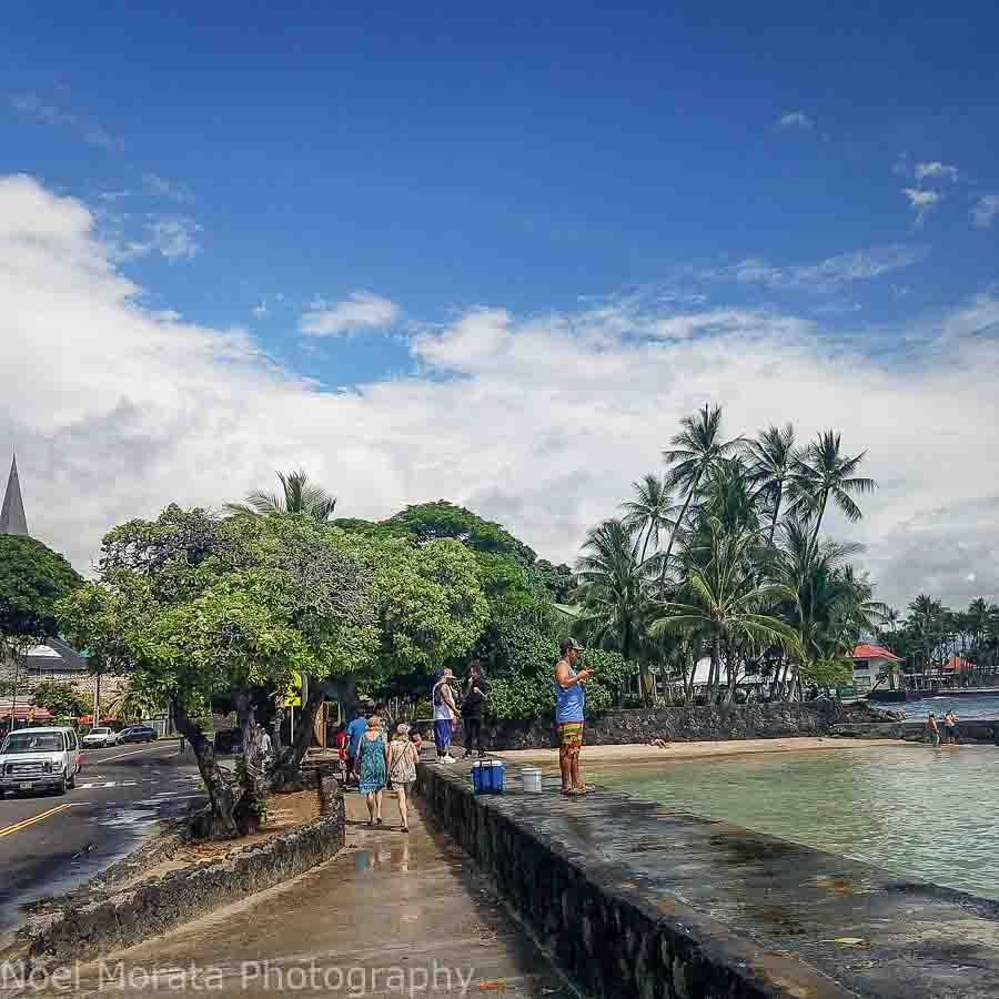 Exploring the historic district in Kona, Big Island