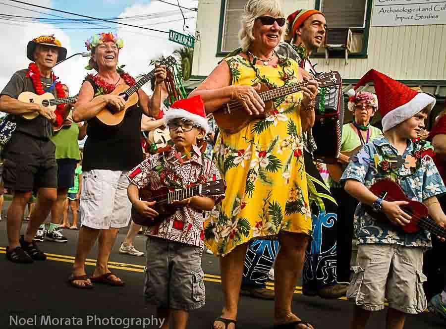 Kanikapila-Christmas-parade in Pahoa HI