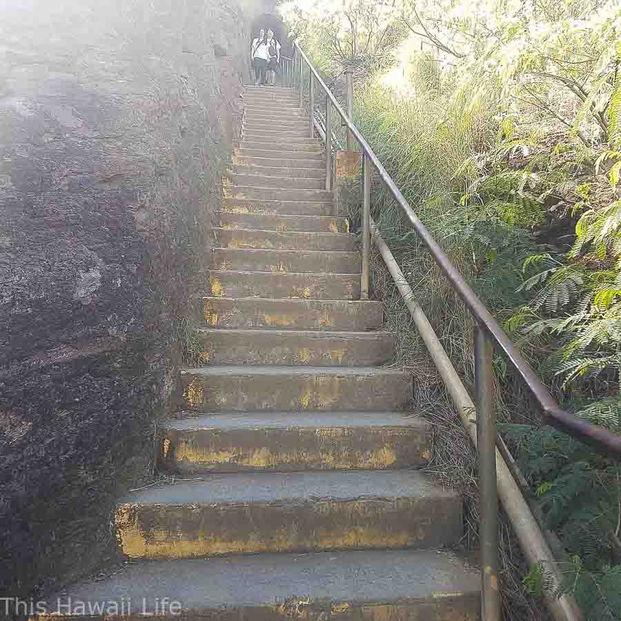First set of stairs to top of Diamond Head