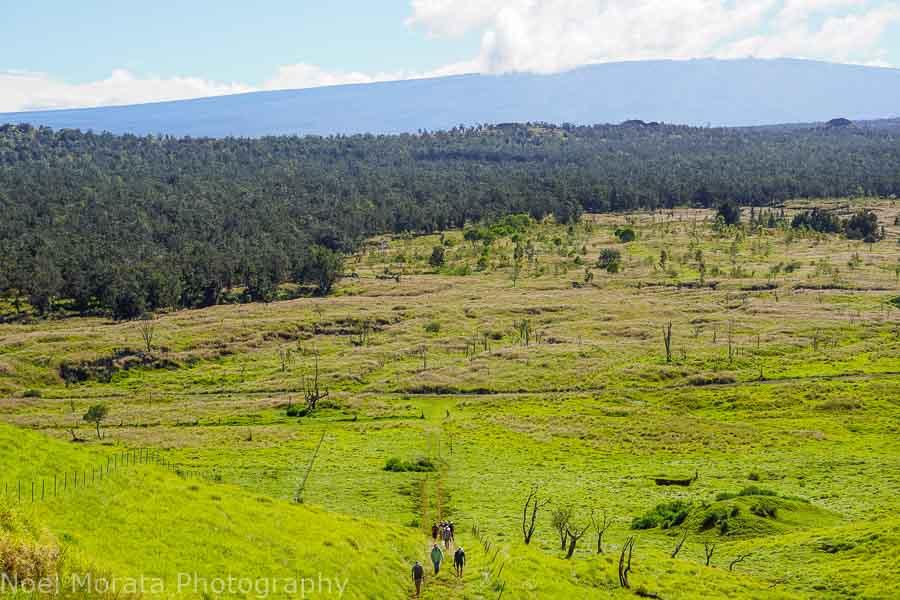 steep incline at Pu'uwa'awa'a Cinder Cone State Park