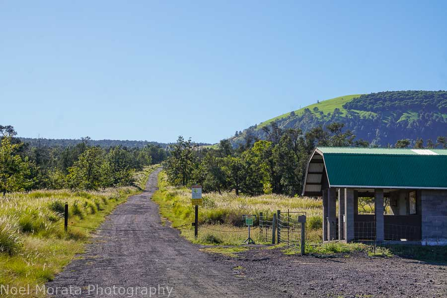 Entry check in station at Pu'uwa'awa'a Cinder Cone State Park