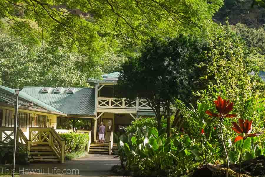 Entrance to the Waimea Valley botanical gardens