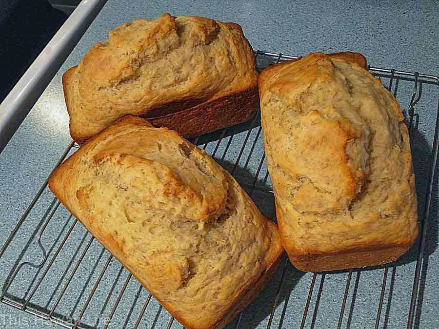 Hawaiian style banana bread