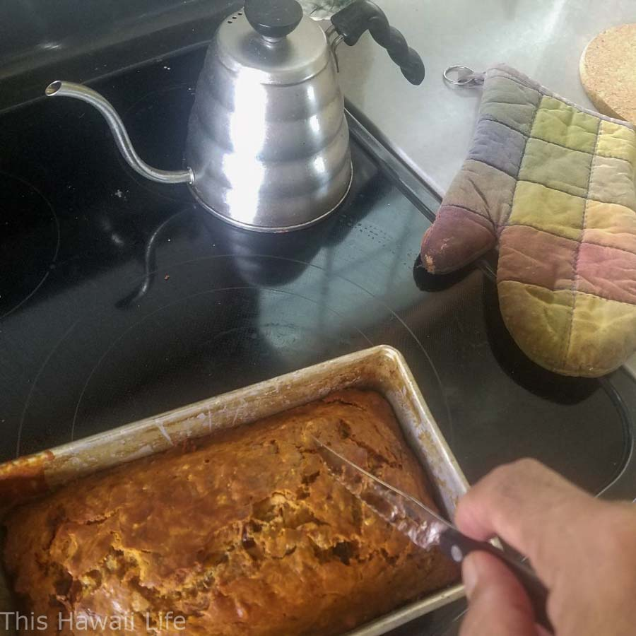 baking banana bread in Hawaii