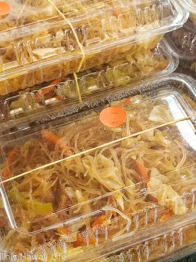 Delicious noodle dishes servings to go