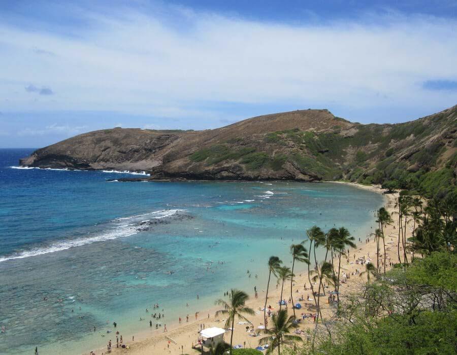 hanauma beach on Oahu island