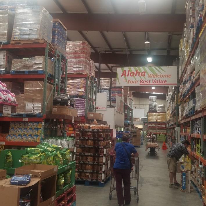 Warehouse shopping in Hawaii