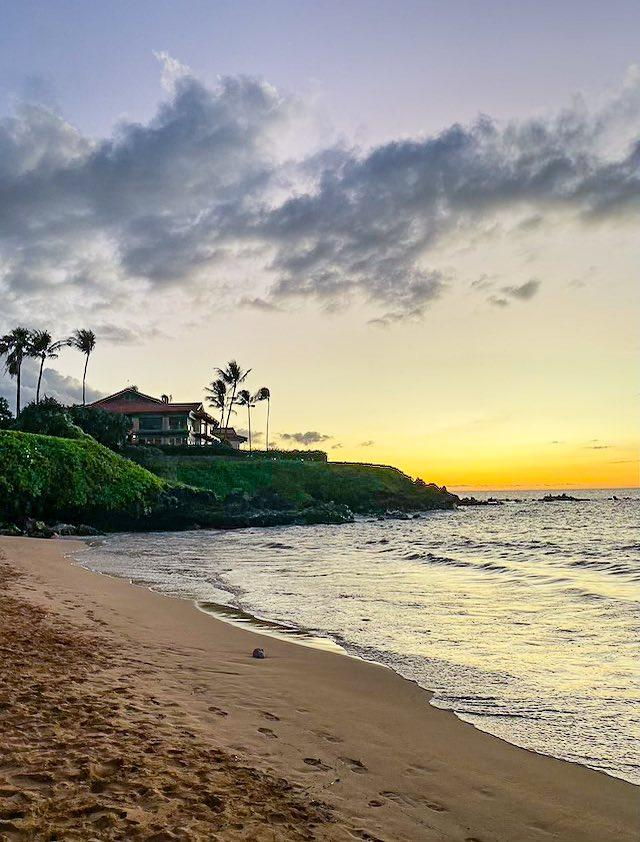 Wailea beach in Southwestern Maui