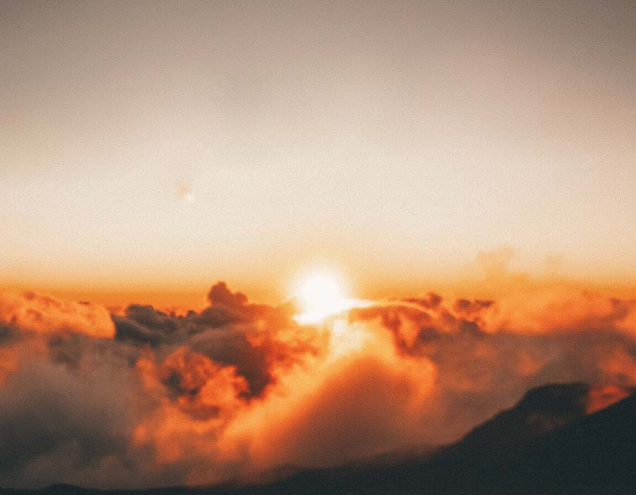 Sunrise experience on Haleakala in Maui