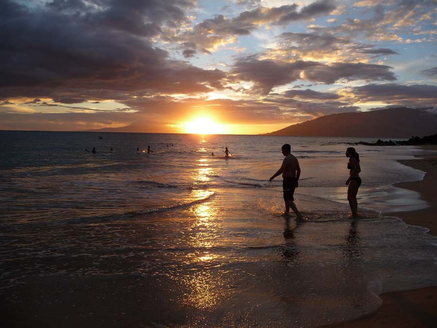 Makena's Little or Big beach for a sunset experience in Maui