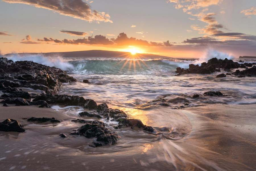 Secret Cove Beach for sunset in Maui