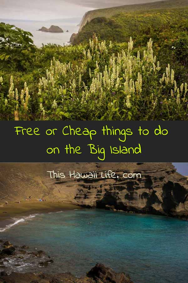 Pinterest free or cheap things to do in the Big Island