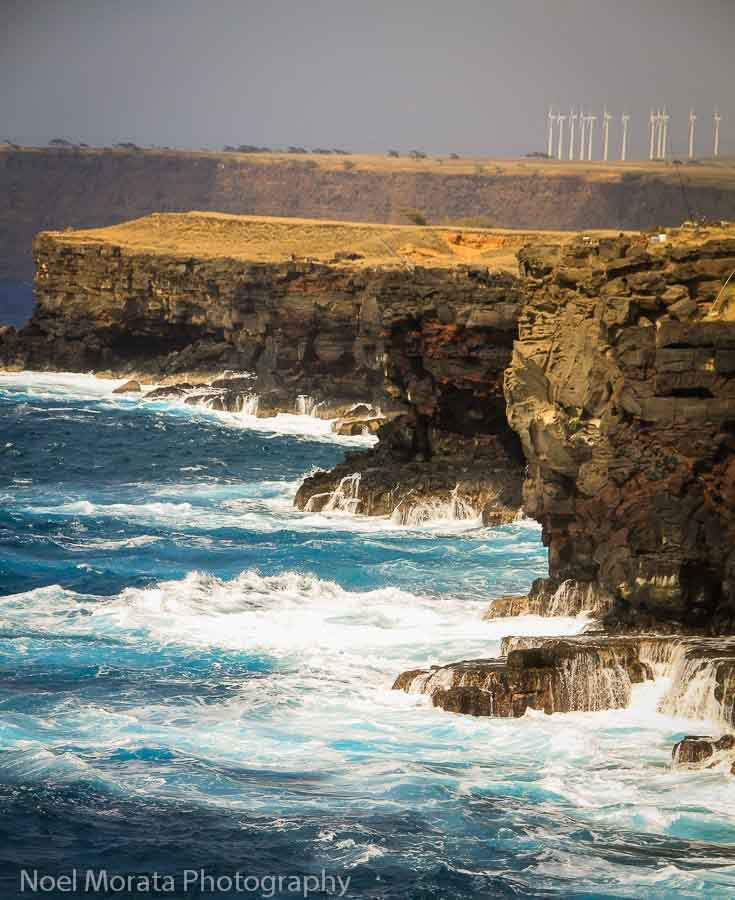 The jagged cliffs at South Point on the BIg Island
