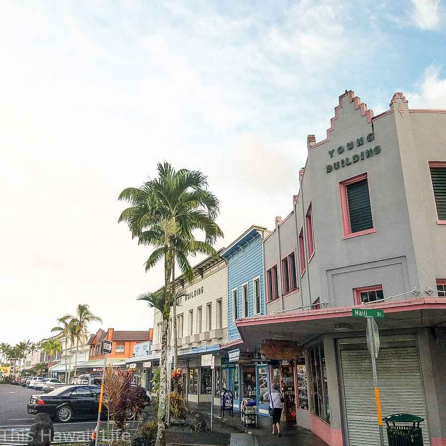 exploring the waterfront old HIlo town in Big Island