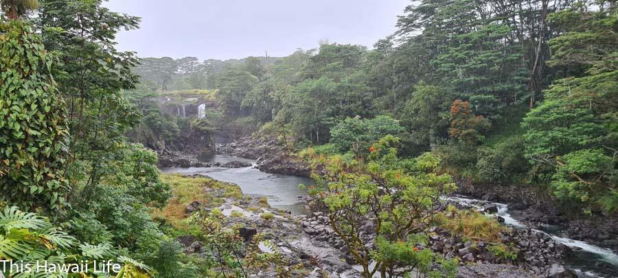 Pe'e Pe'e falls and Boiling pots in Hilo a must visit Big Island Waterfalls