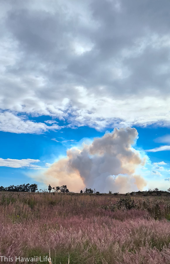 There are many viewing areas for the volcano eruptions at Volcanoes national park