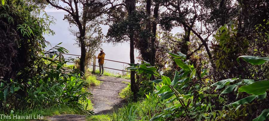 Hike the trails for different viewings of the Eruption at Kilauea