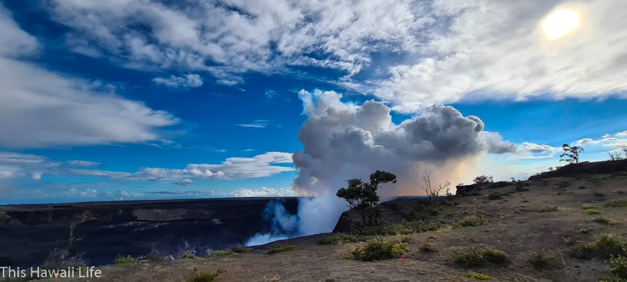 Visiting Volcanoes National Park for the current lava eruptions