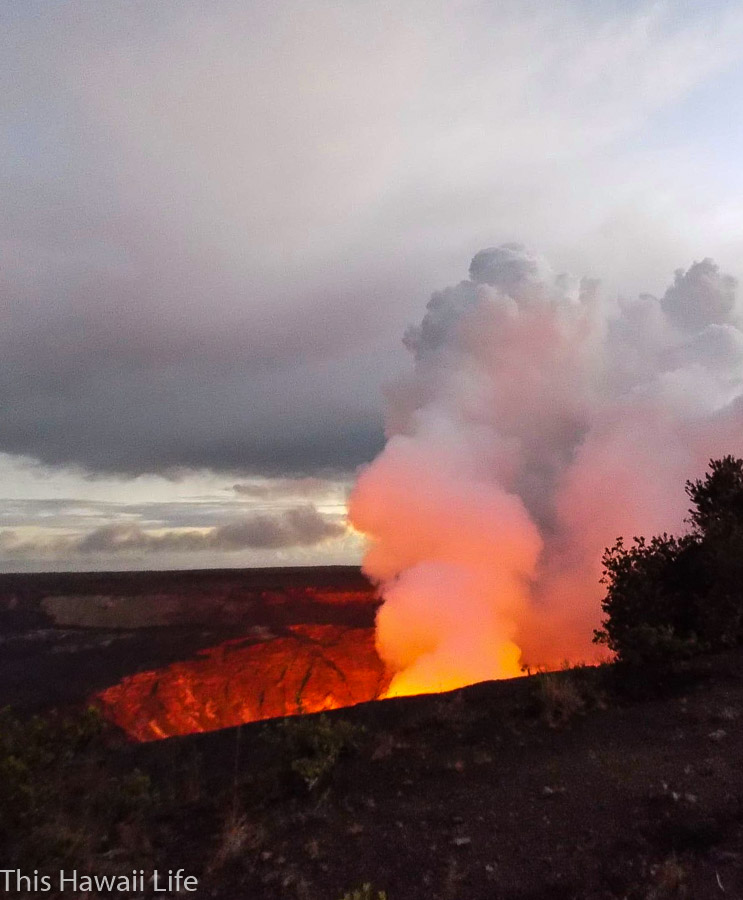 Night time visits and viewing at Volcanoes National Park a different perspective