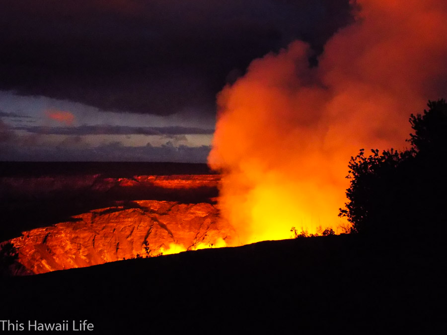 Night time visits and viewing at Volcanoes National Park
