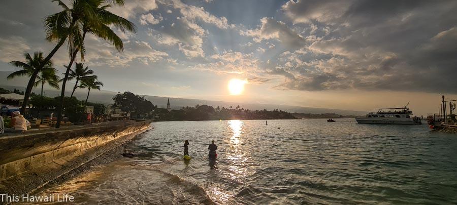 Kona ocean adventure cruise with Body Glove and a Kona sunrise