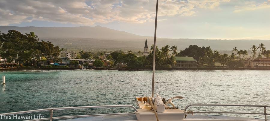 Kona ocean adventure cruise and morning in Kona town