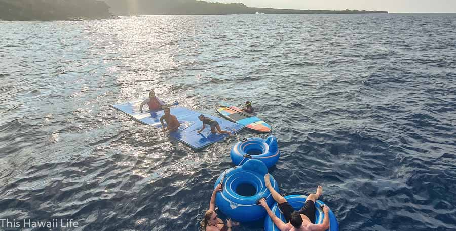 floating and inner tube fun toys on the Kanoa