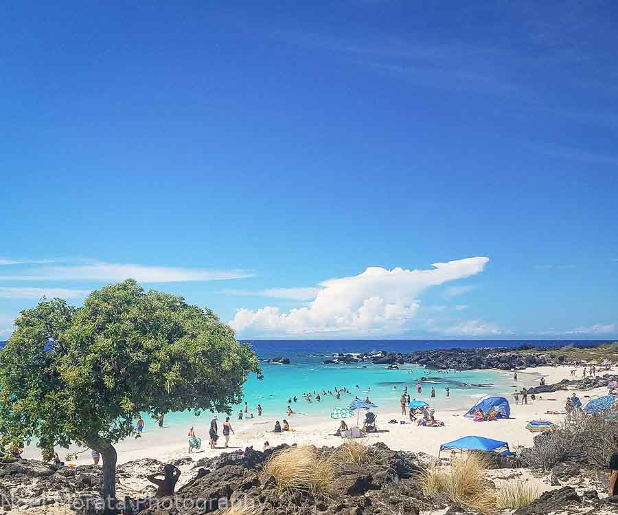 The best time to visit Hawaii with good weather at Kua Bay