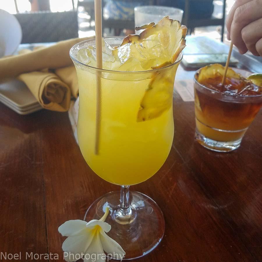Tropical drinks in Hawaii